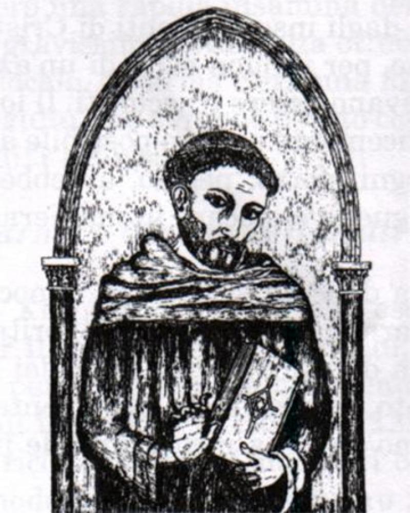 Italian Franciscan friar and historian Salimbene Di Adam.