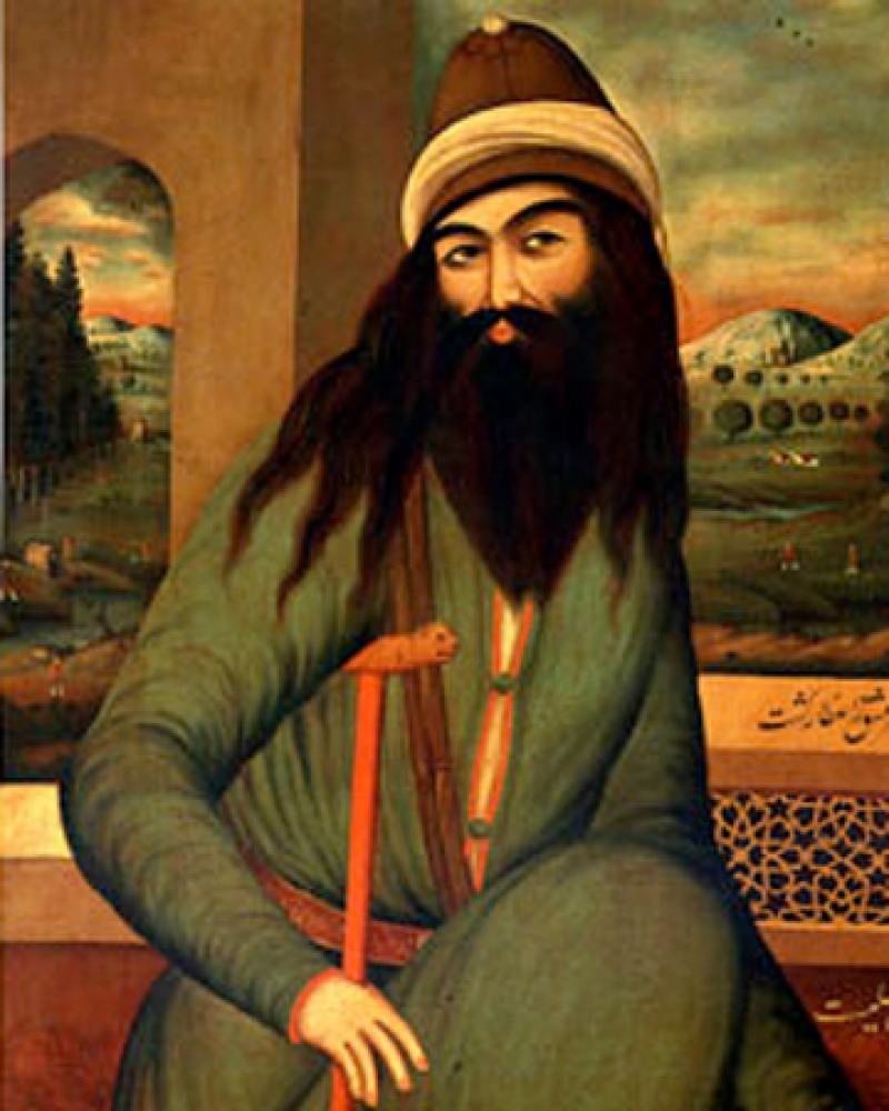 Painting of Persian Muslim poet Farid ud-Din Attar.