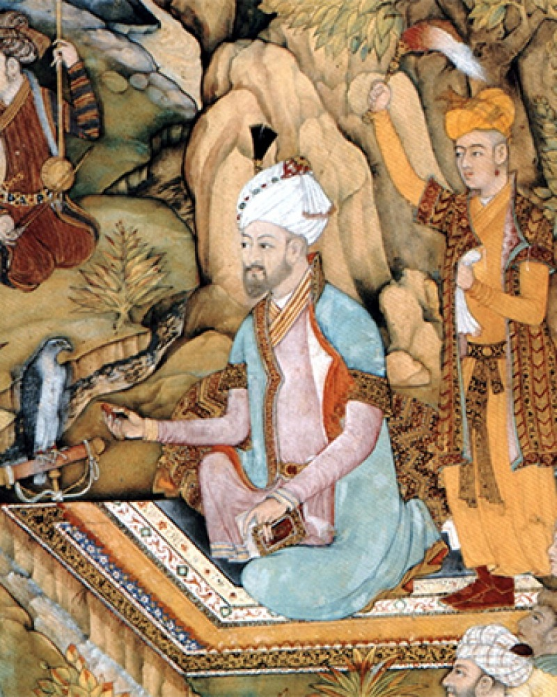 Depiction of Mughal dynasty founder Babur.