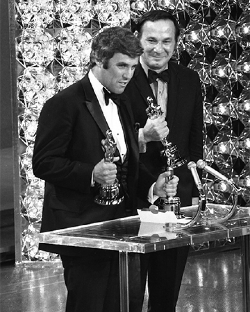 American songwriters Burt Bacharach & Hal David.