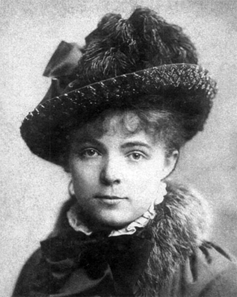 Black and white photograph of Maria Bashkirtseva