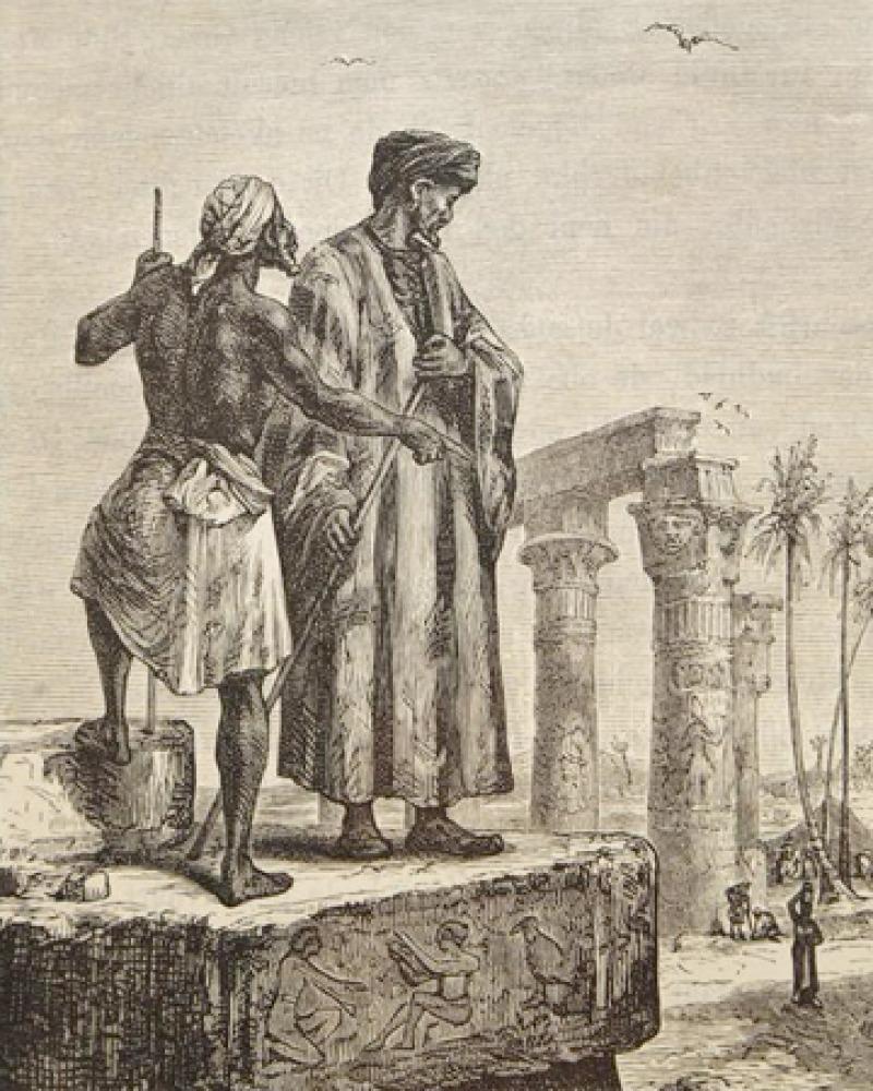 Engraving of the medieval Arab traveler Ibn Battuta.