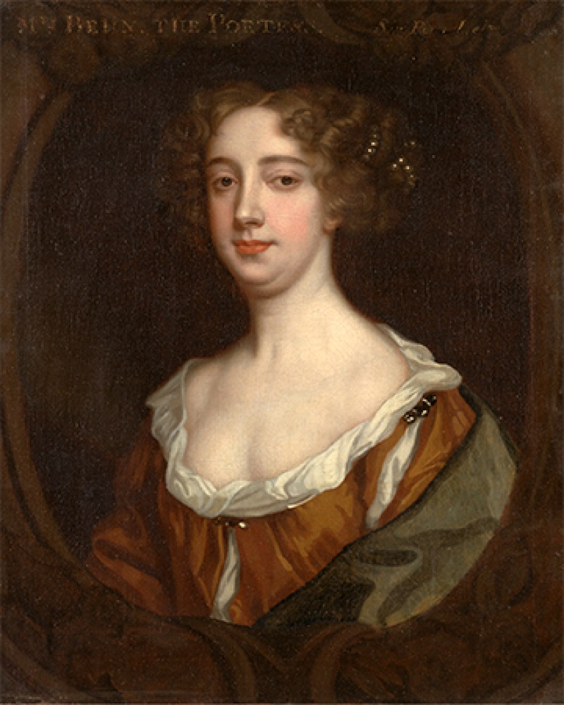 English dramatist, writer, and poet Aphra Behn.