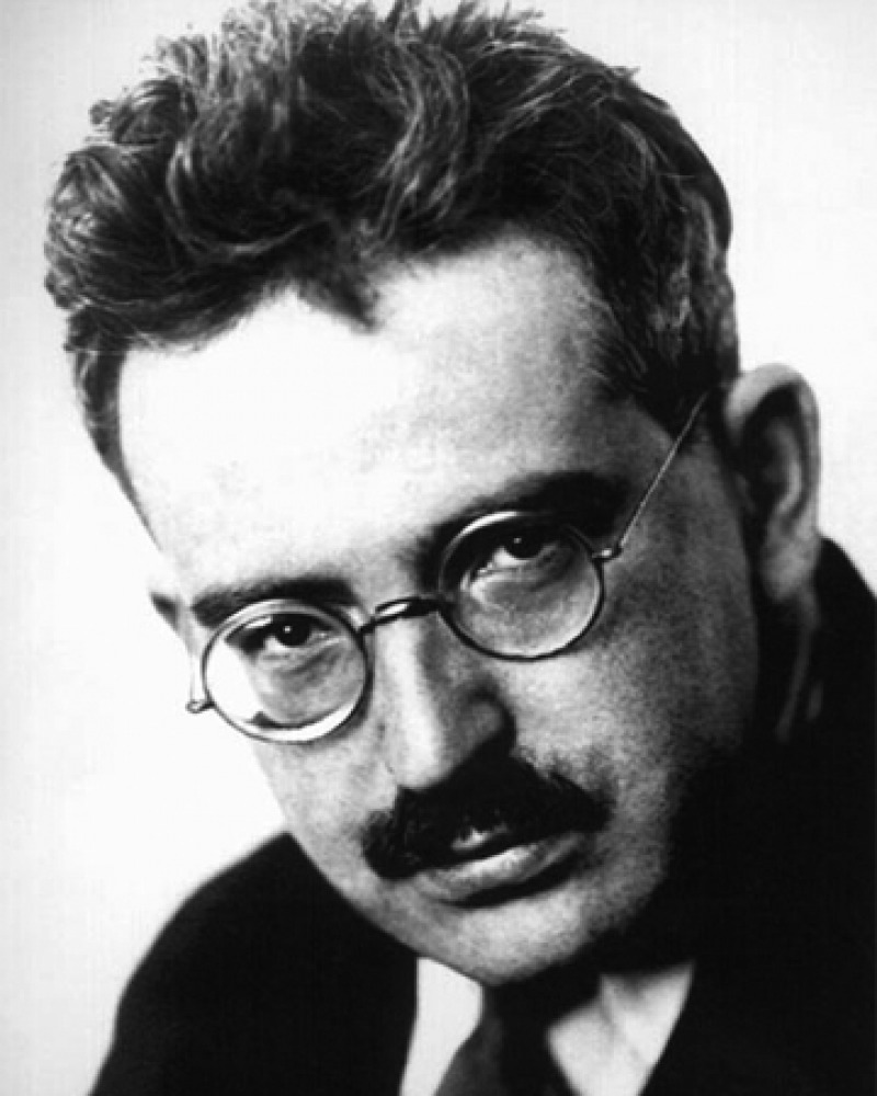 Photograph of German literary critic Walter Benjamin.