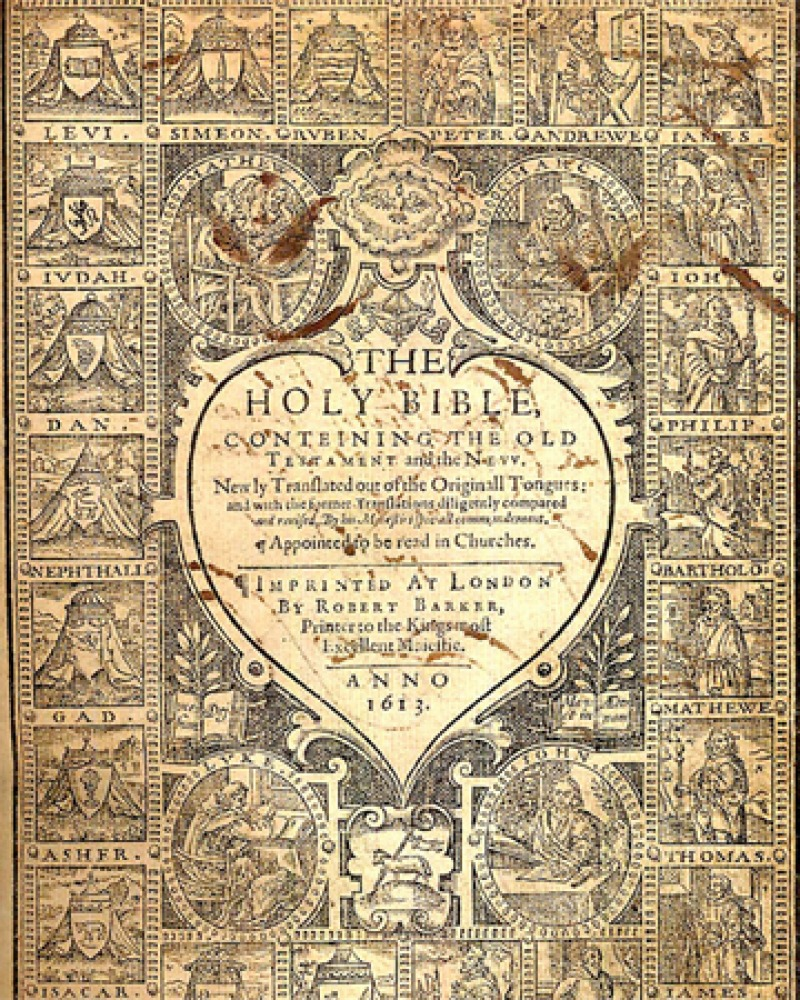 Frontispiece for 1612-13 King James Bible.
