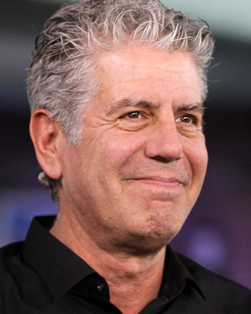 American chef, author, and television personality Anthony Bourdain.