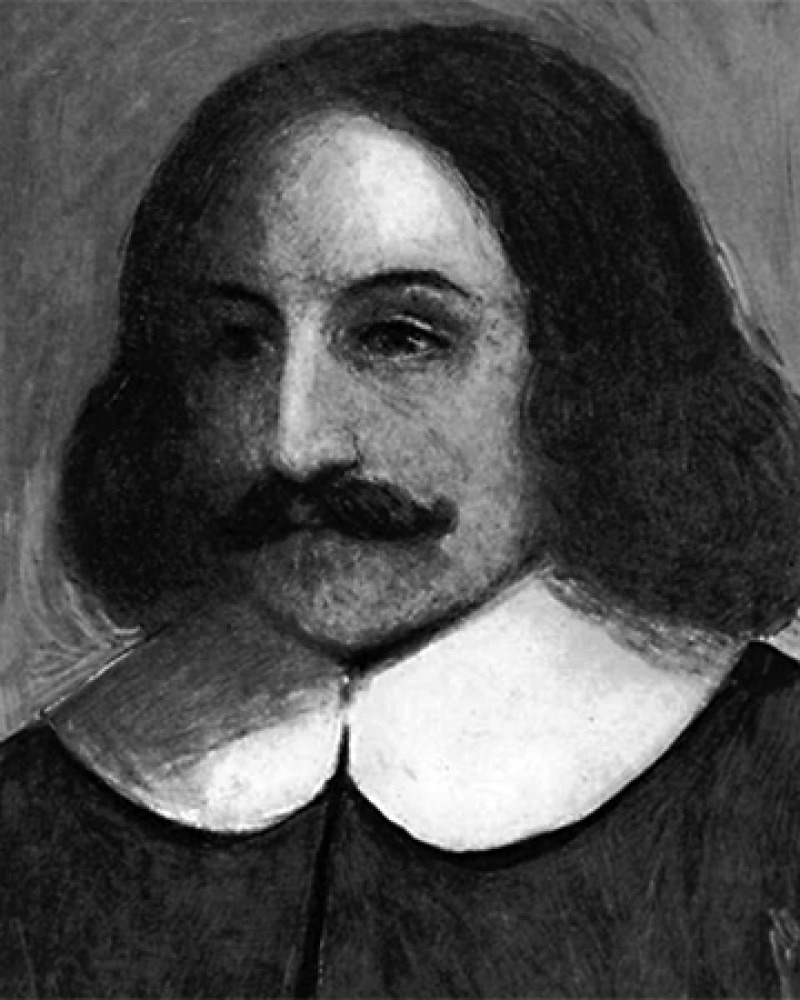 Depiction of Plymouth colony governor William Bradford.