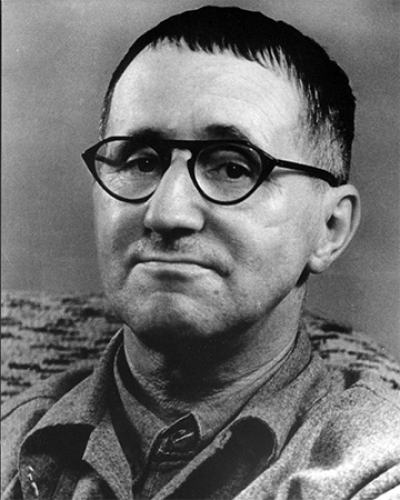 German poet and playwright Bertolt Brecht.