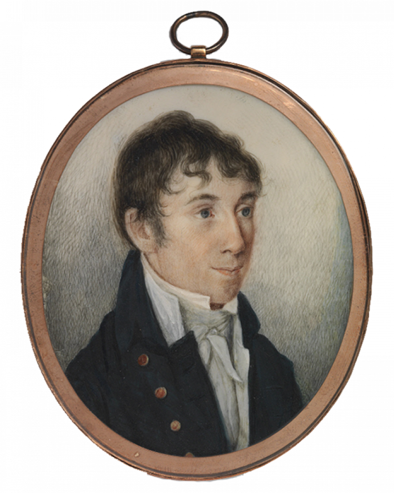 Cameo portrait of Charles Brockden Brown