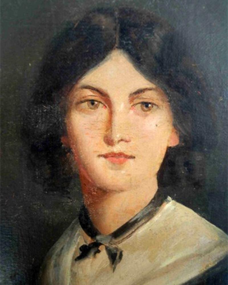 English novelist and poet Emily Brontë.