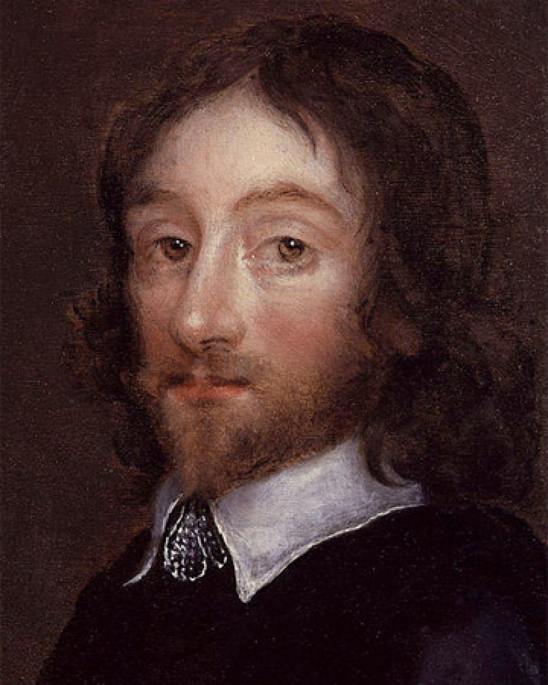 Painted portrait of English physician and author Thomas Browne.