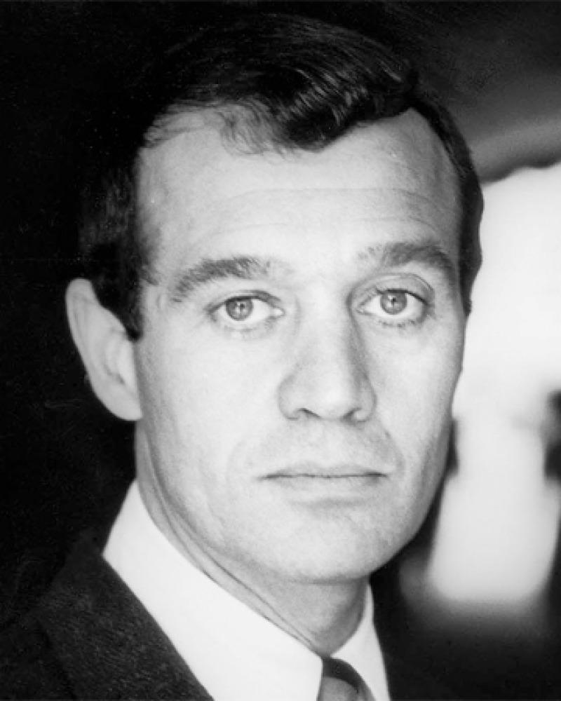 Black and white photograph of American writer and critic Anatole Broyard.