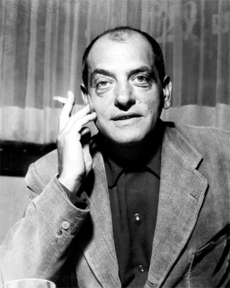 Black and white photograph of Spanish filmmaker Luis Buñuel.