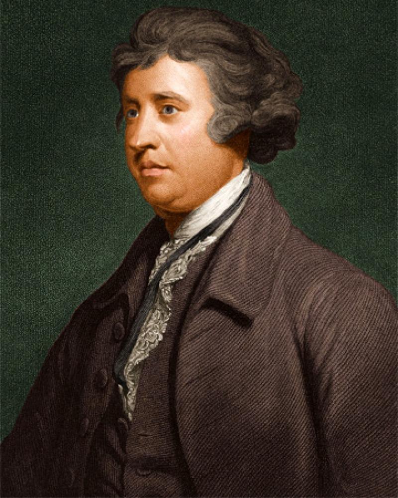 Painted portrait of British statesman and political thinker Edmund Burke.