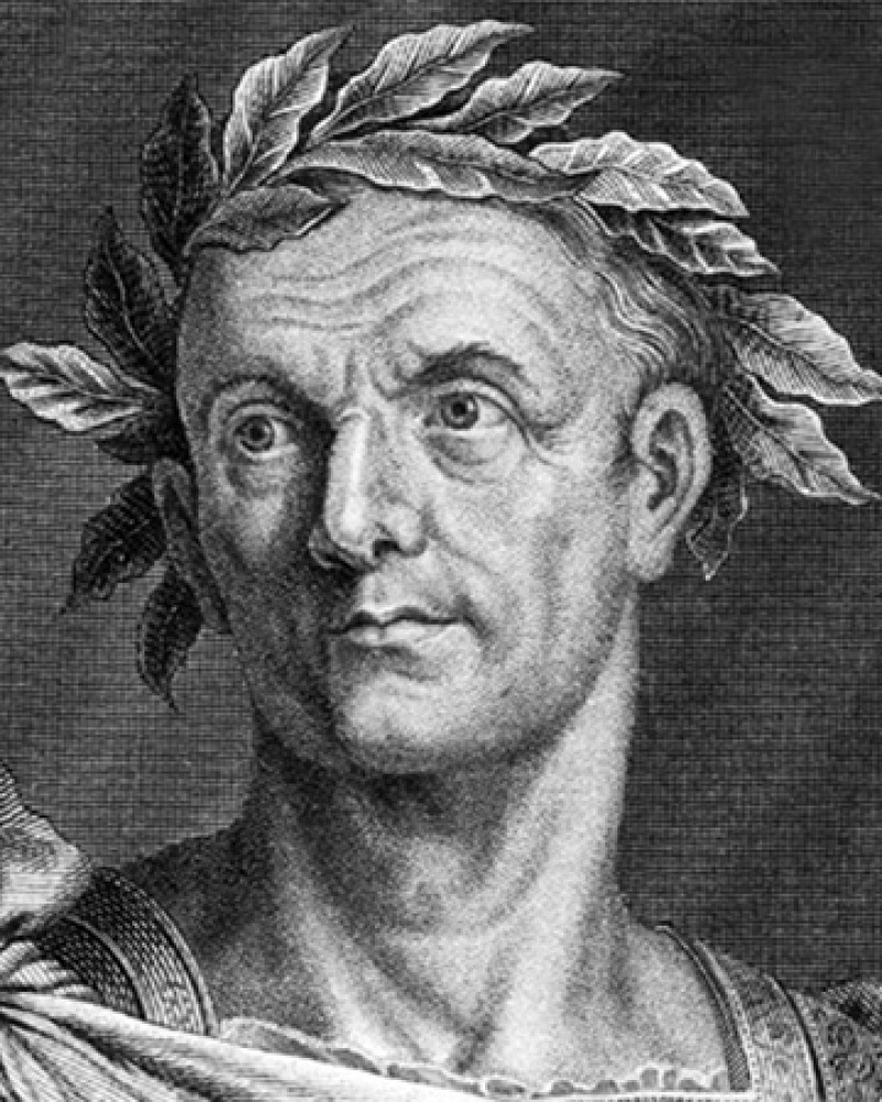Roman general and ruler Julius Caesar.
