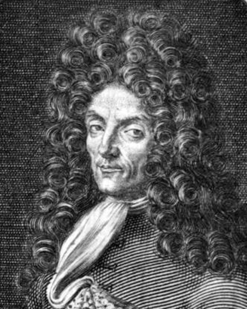 Engraving of Italian adventurer Giovanni Francesco Gemelli Careri.