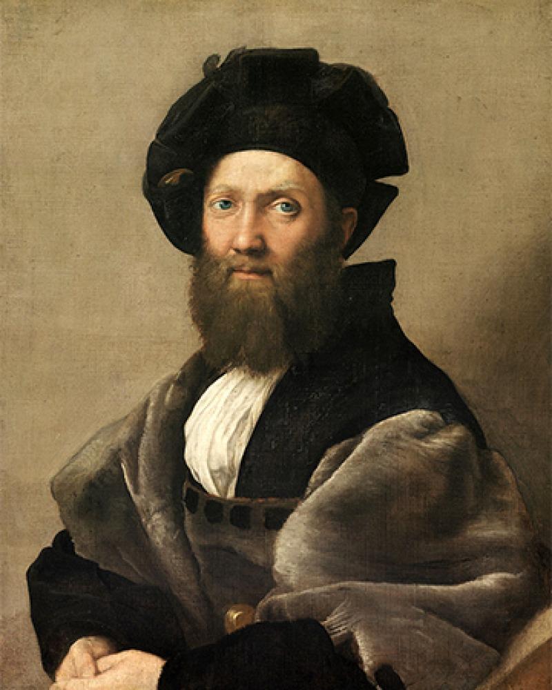 Italian courtier, diplomat, and writer Baldassare Castiglione.