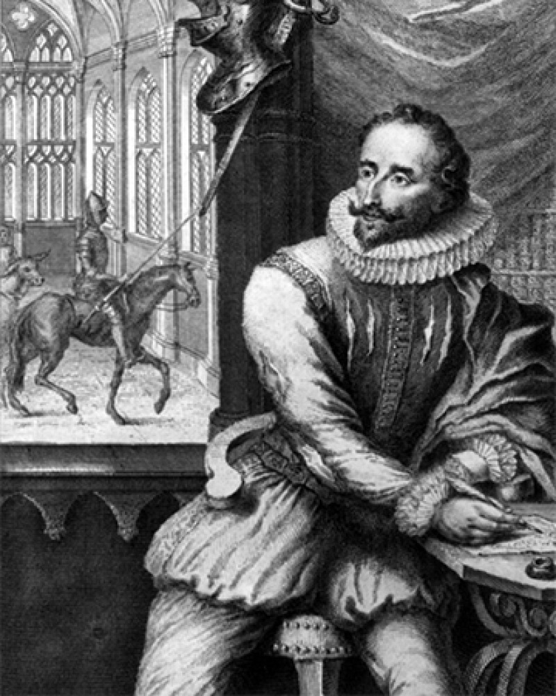 Spanish writer Miguel de Cervantes.