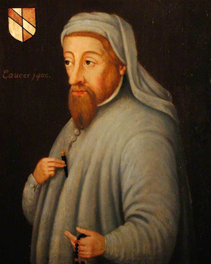 English writer Geoffrey Chaucer.