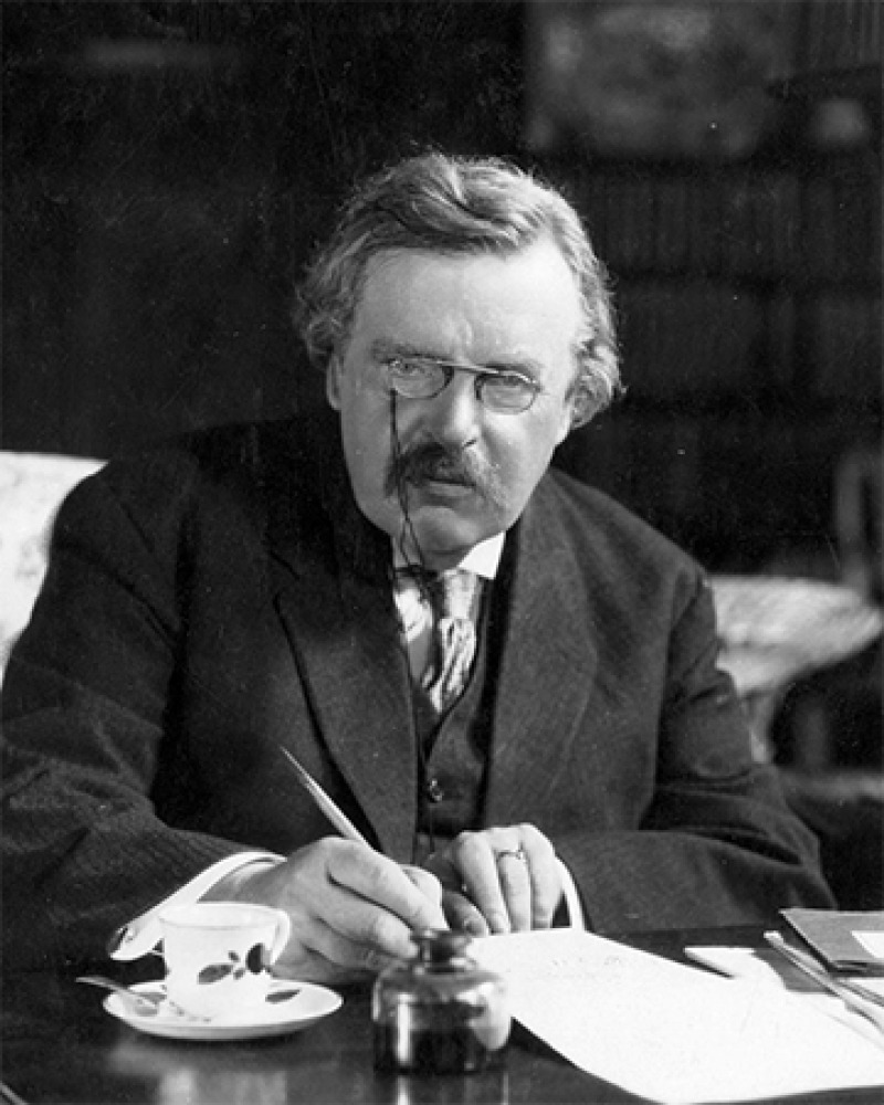 English critic and author G. K. Chesterton.