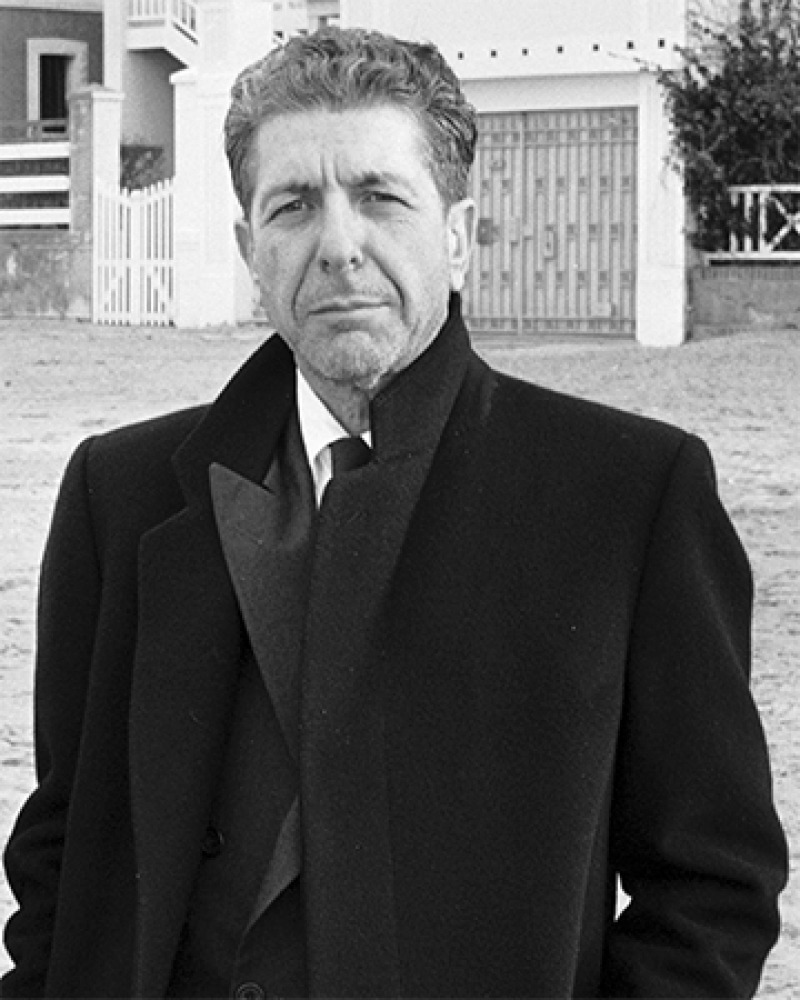 Canadian musician and author Leonard Cohen.