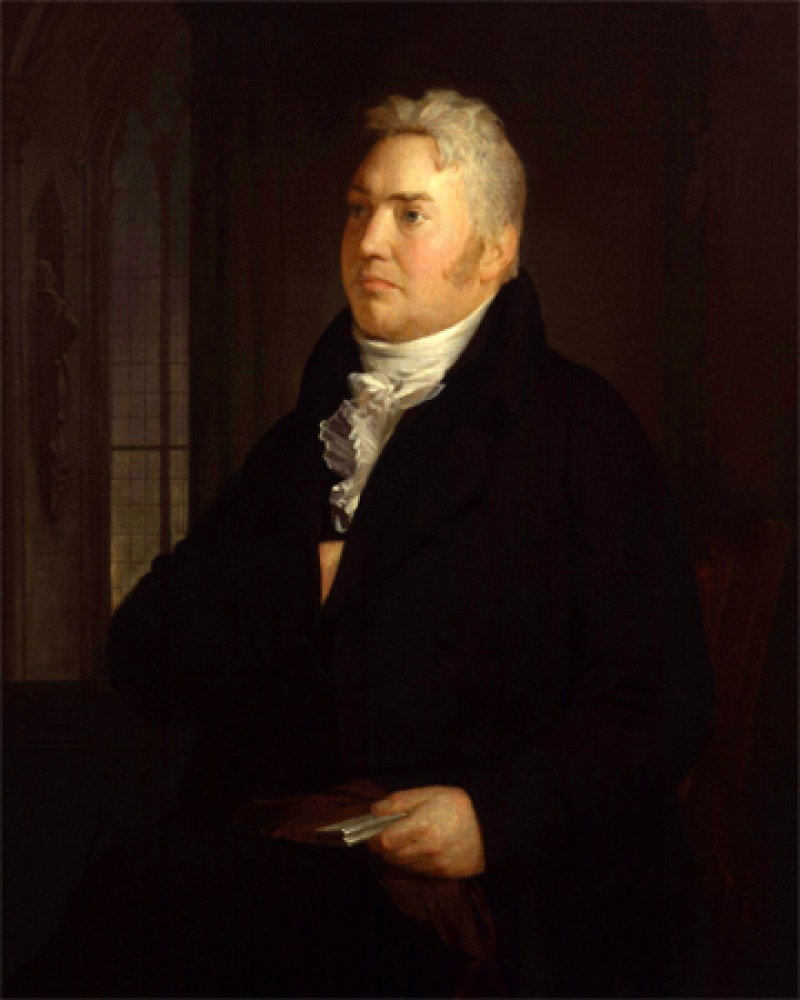 Portrait of English lyrical poet and critic Samuel Taylor Coleridge.