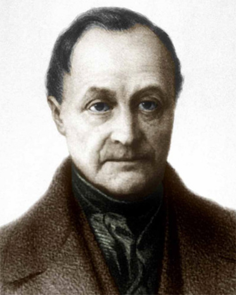 Color image of French philosopher Auguste Comte.