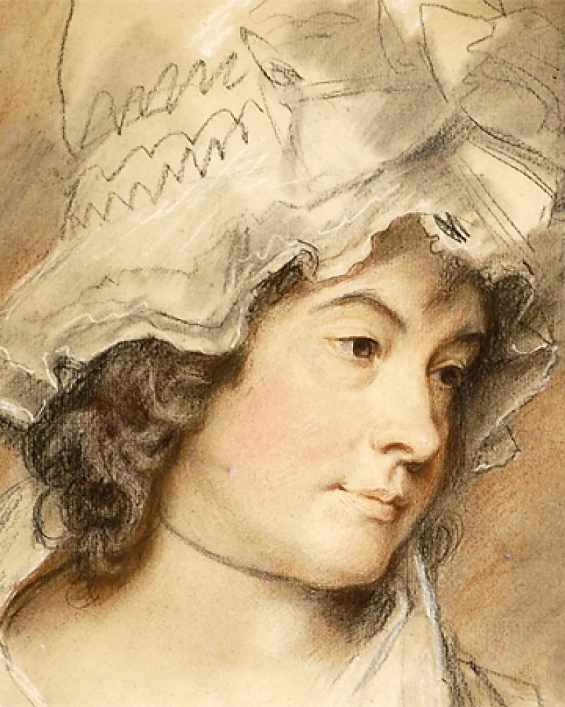 Portrait of English novelist and poet Charlotte Smith.