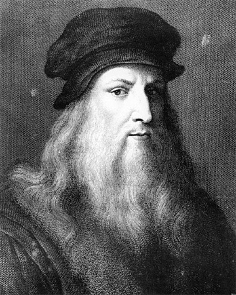 Italian artist, engineer, and scientist Leonardo da Vinci.