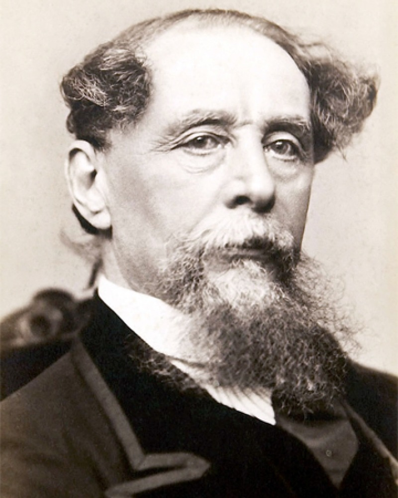Photograph of English novelist Charles Dickens.