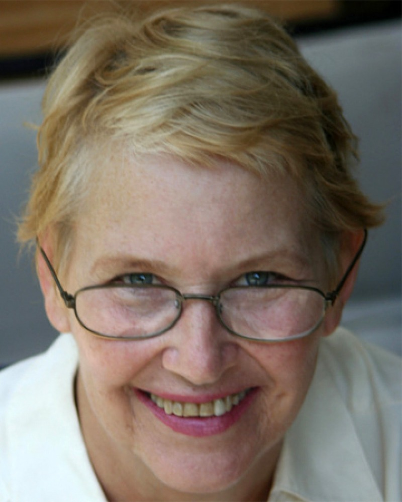 Color photograph of American writer Annie Dillard.