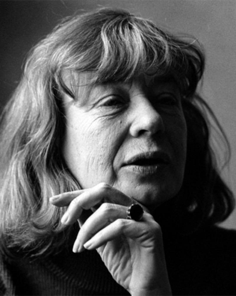 Black and white photograph of Danish author Tove Ditlevsen.