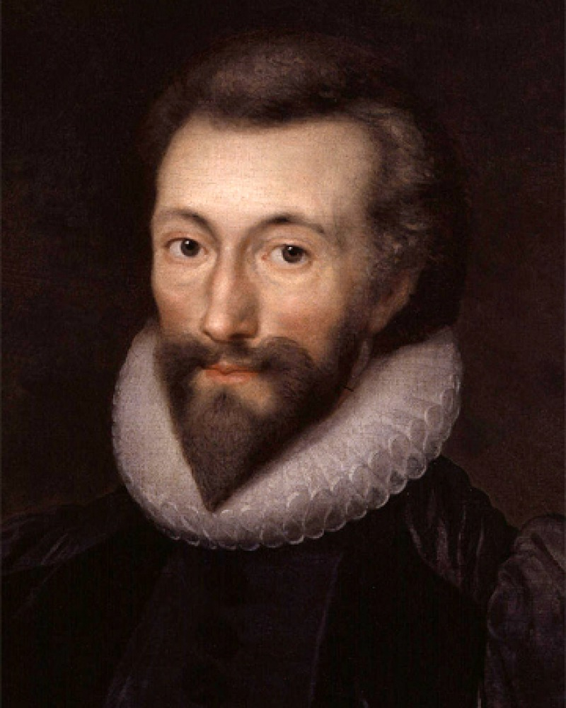 Color portrait of English poet John Donne.