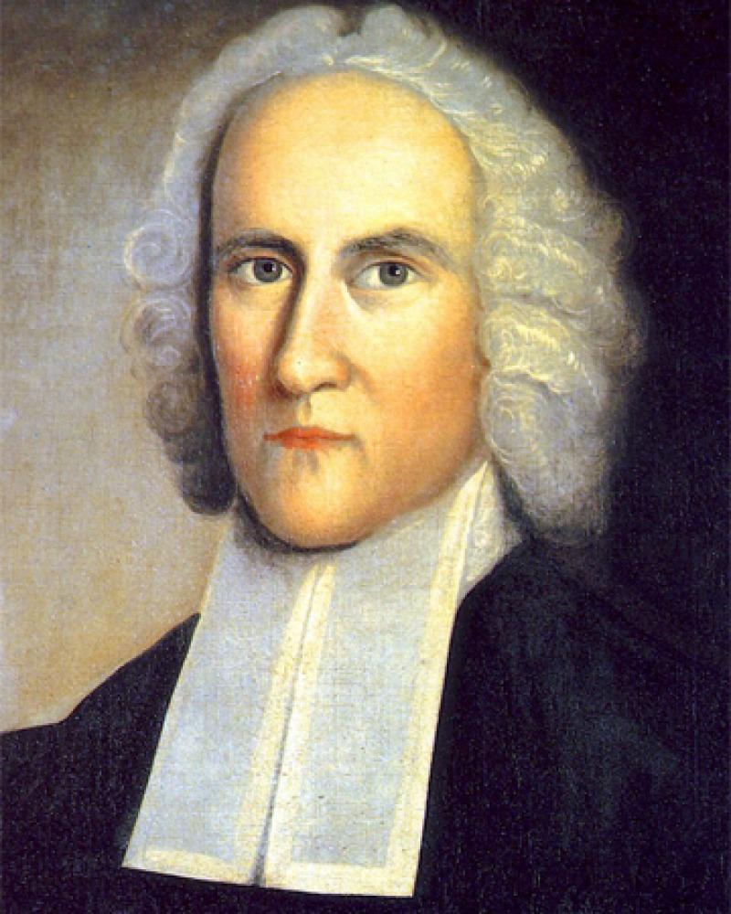 Portrait of American Puritan theologian Jonathan Edwards.