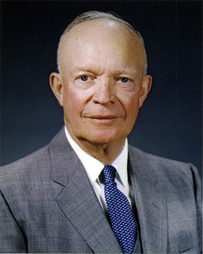 President of the United States and five-star general Dwight D. Eisenhower.