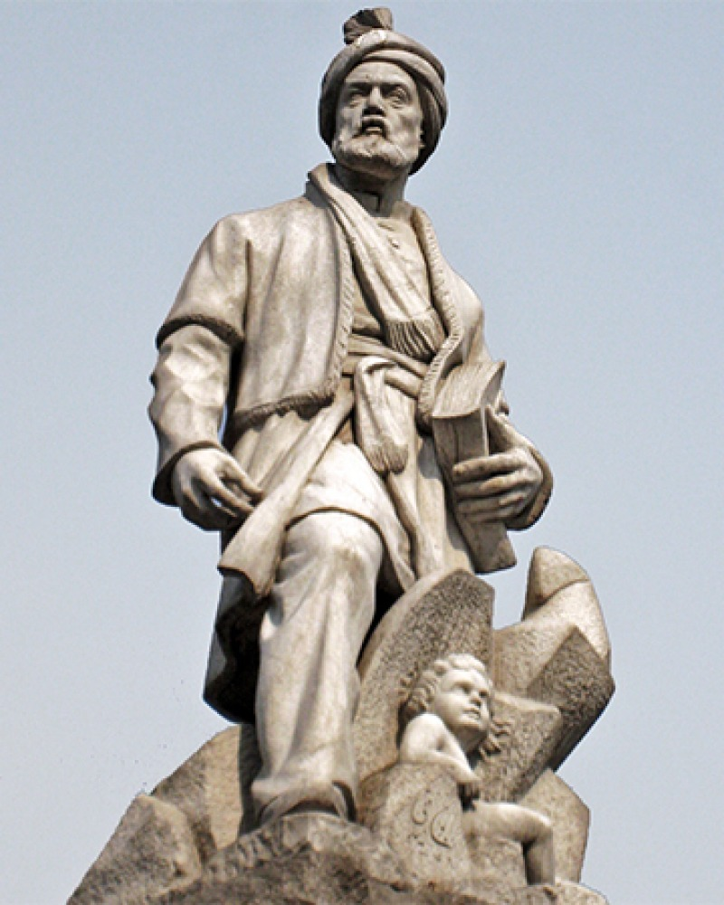 Statue of the Persian poet Ferdowsi.