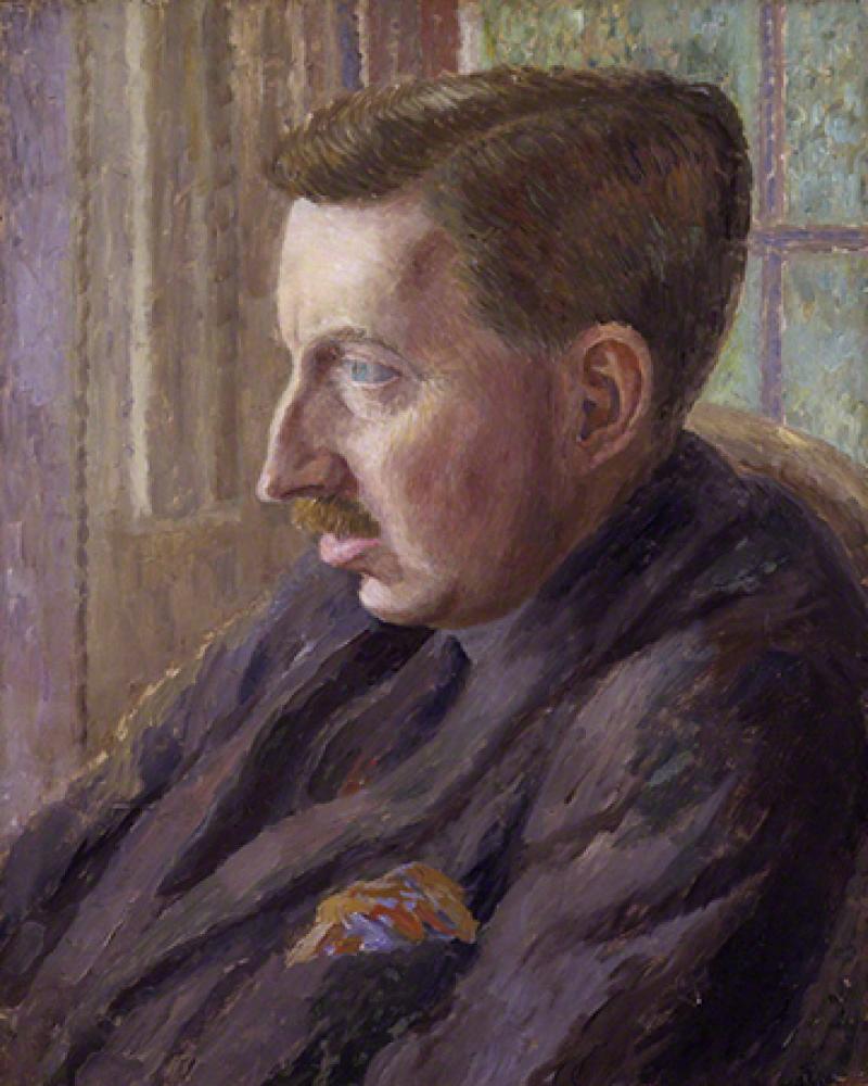 Portrait of E.M. Forster by Dora Carrington.