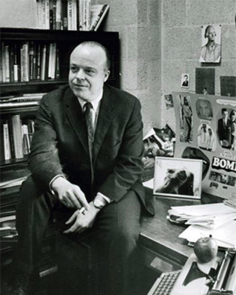 Photograph of writer, poet, and professor George Garrett.