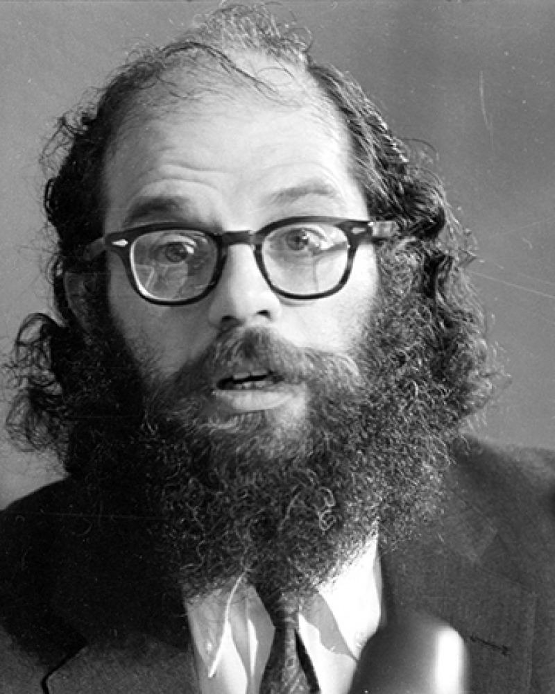 American poet Allen Ginsberg.