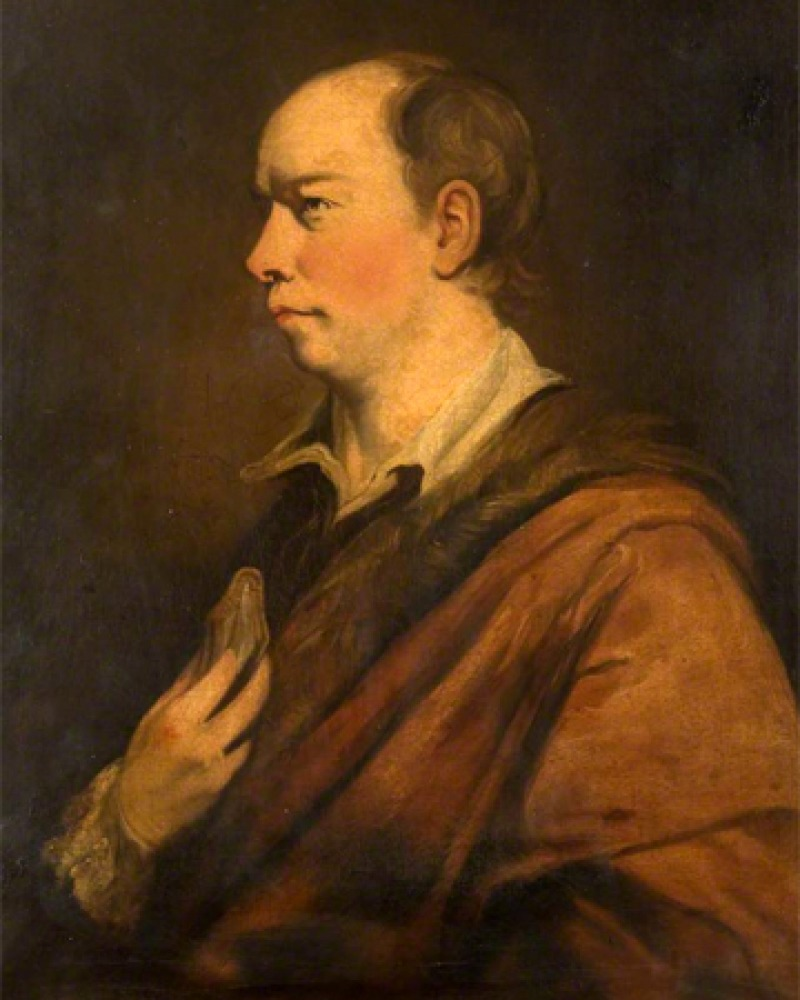 Portrait of Anglo-Irish essayist, poet, novelist, and dramatist Oliver Goldsmith.