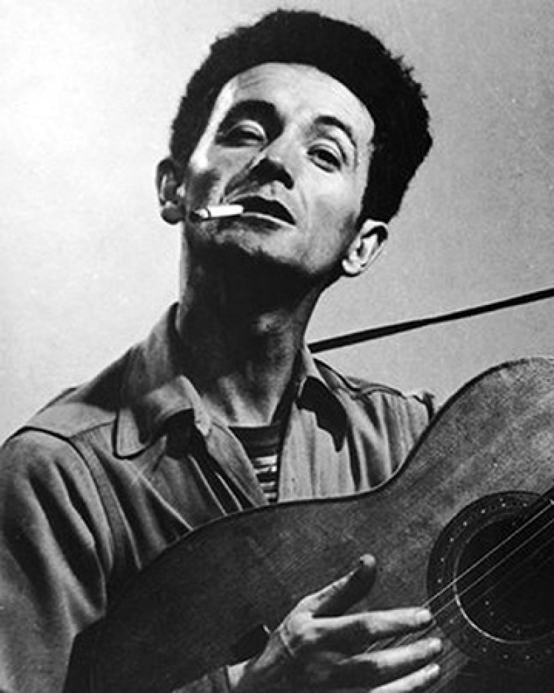 American singer and songwriter Woody Guthrie.
