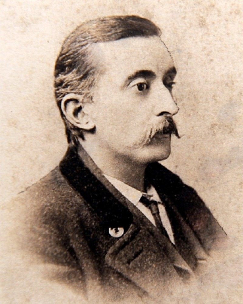 Photograph of American writer and translator Lafcadio Hearn.