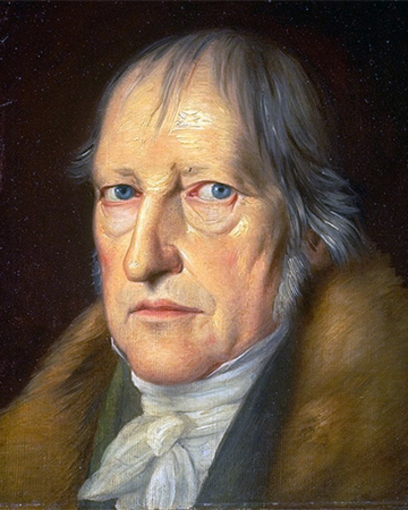 Painting of an older Georg Wilhelm Friedrich Hegel.