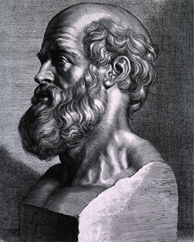 Ancient Greek physician Hippocrates.