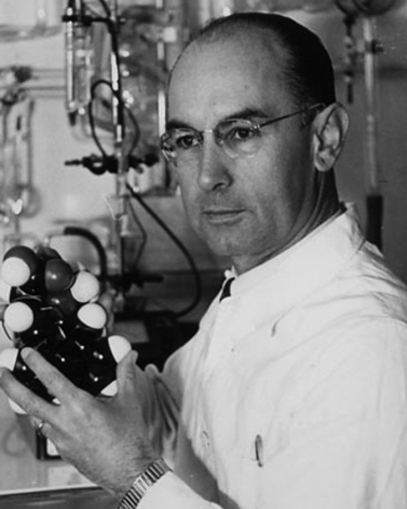 Photograph of Swiss chemist Albert Hofmann.