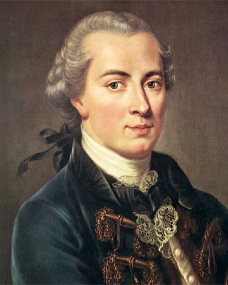 Painting of a young Immanuel Kant.