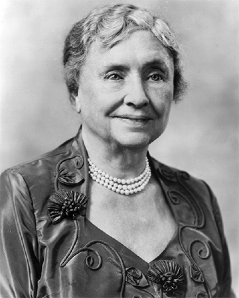 American author and educator Helen Keller.
