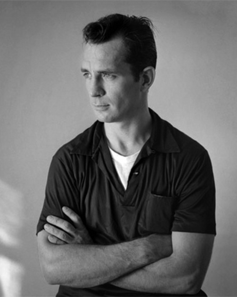 Photograph of American novelist and poet Jack Kerouac.