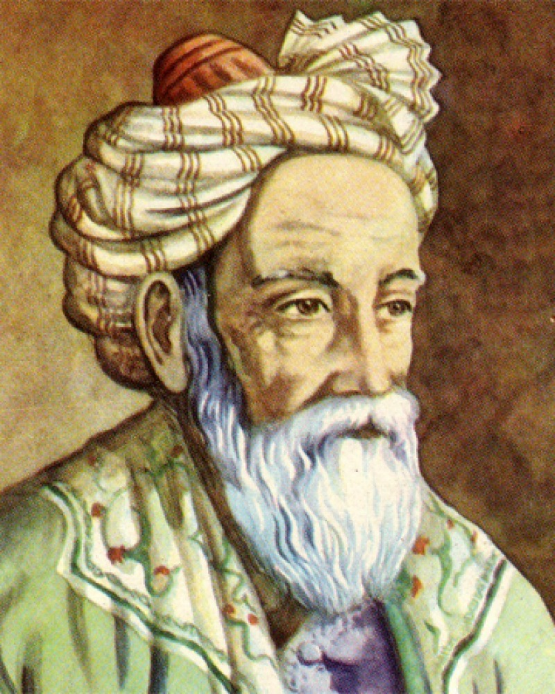 Depiction of Persian mathematician and poet Omar Khayyam.