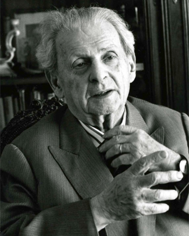 Photograph of Lithuanian-born French philosopher Emmanuel Lévinas.